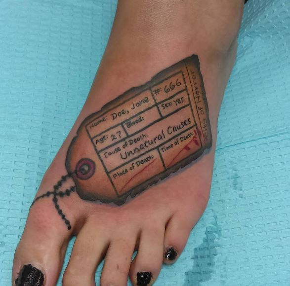 Death Toe Tattoos Design And Ideas For Women