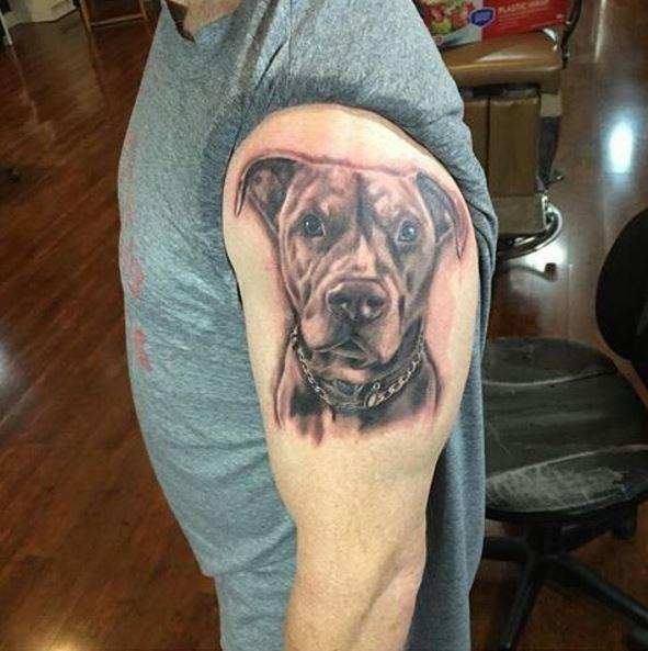 Dog Tattoos Design On Shoulder