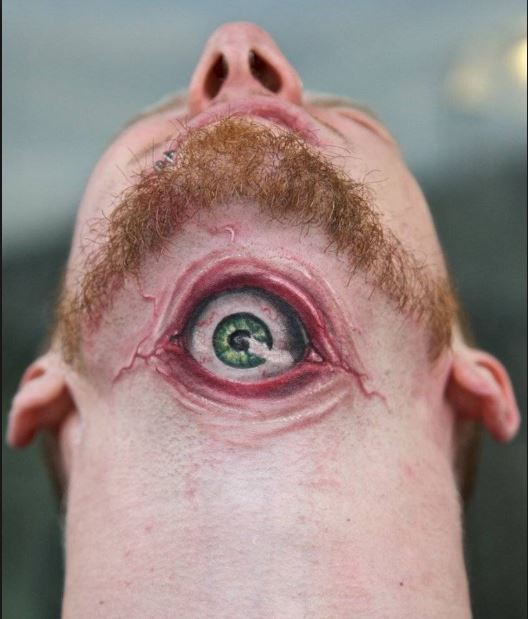 Eye Neck Tattoos Design For Men