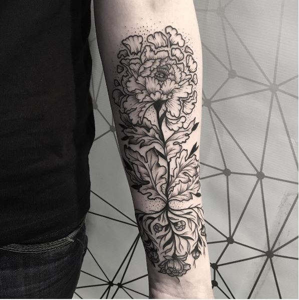 Floral Tattoos Design On Arms