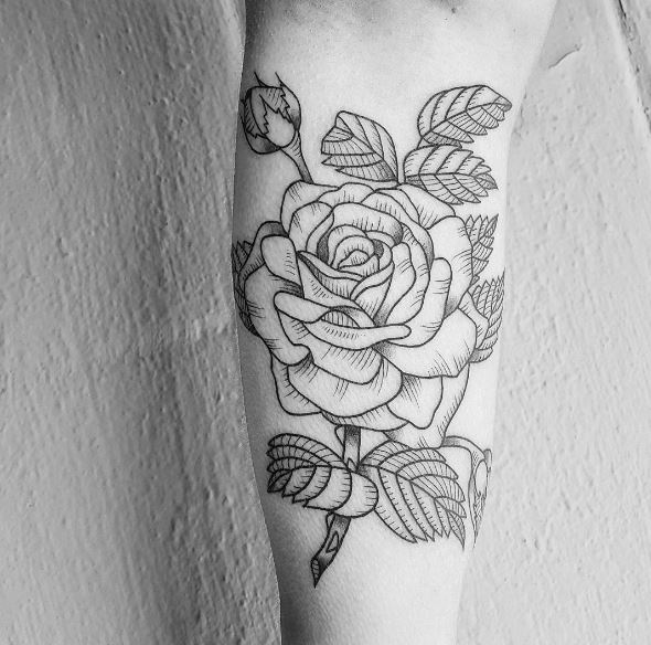 Floral Tattoos Design On Forearm