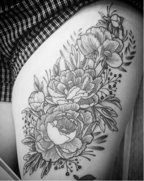 Floral Tattoos Photos Gallery