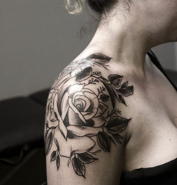 Floral Tattoos Design On Shoulder