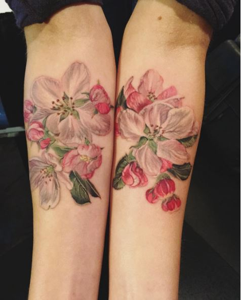 Floral Engraving Tattoo