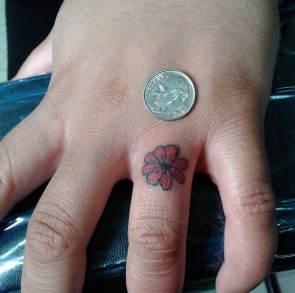 Flower Micro Tattoos Design And Ideas