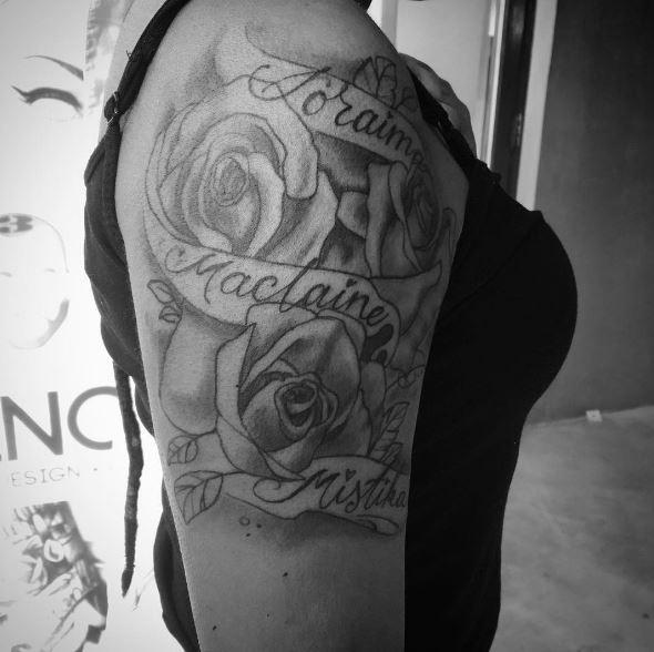 Flower Shoulder Tattoos Design And Ideas