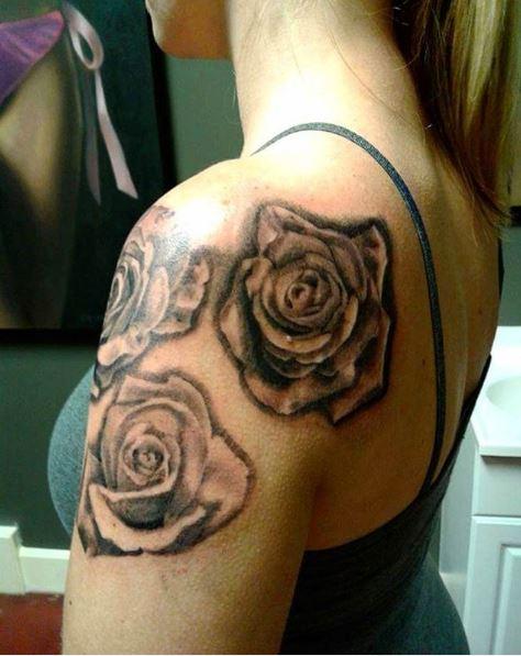 Flower Tattoos Design On Shoulders