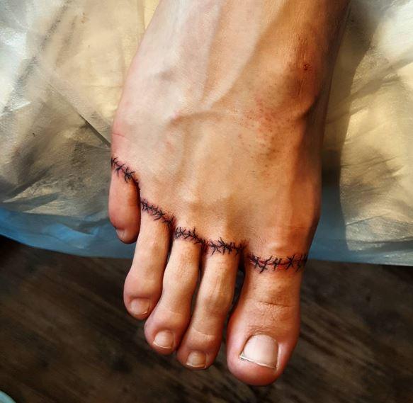 Foot Toe Tattoos Design For Men