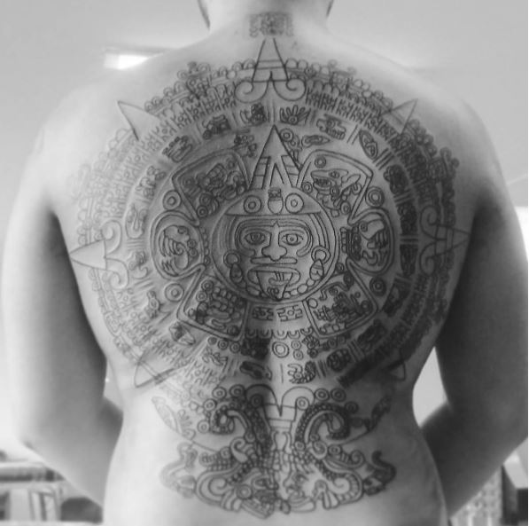 Full Back Aztec Tattoos Design And Ideas
