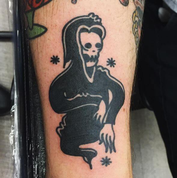 Ghost Reaper Tattoos Design On Legs