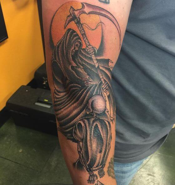 Glamorous Grim Reaper Tattoos Design And Ideas