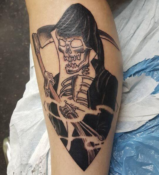 Grim Reaper Fun Tattoos Design