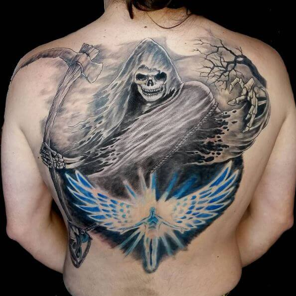 Grim Reaper Nice Tattoos Design