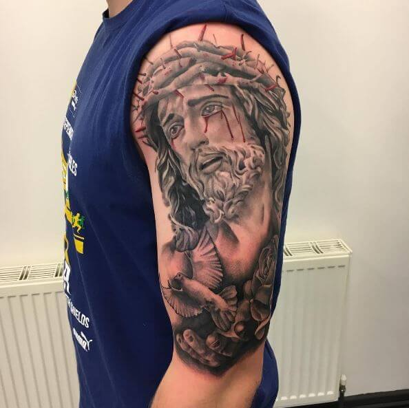 Jesus Christ Amazing Tattoos Design