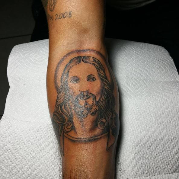Jesus Tattoo Arm