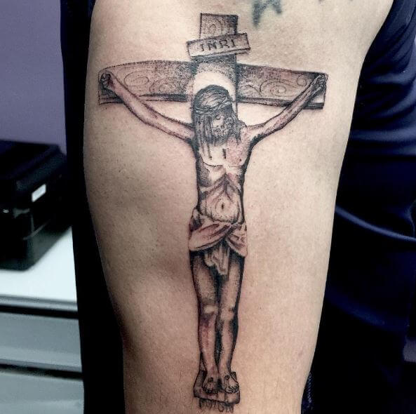 Jesus Tattoos Arm Sleeve Design