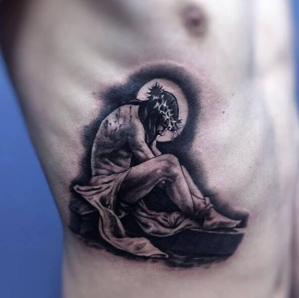 Jesus Tattoos On Ribcage