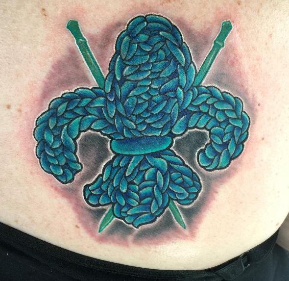 Knitting Tattoos Design On Stomach