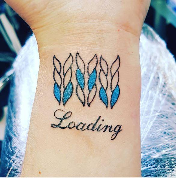 Knitting Tattoos Design On Wrist