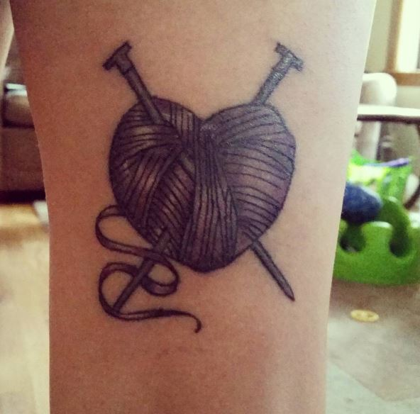 Knitting Tattoos Ideas For Women