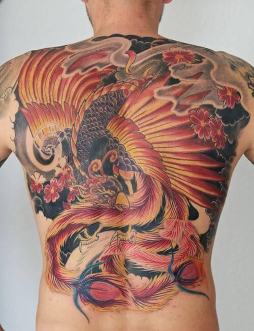 Latest Phoenix Tattoos Design For Boys