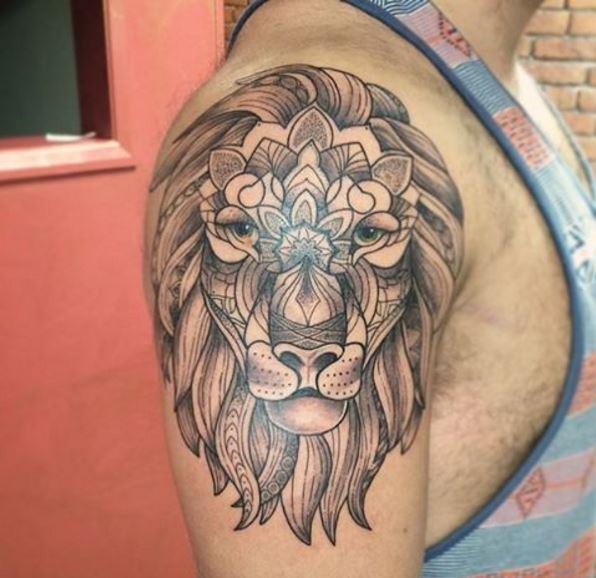 Lion Tattoos Design On Shoulder