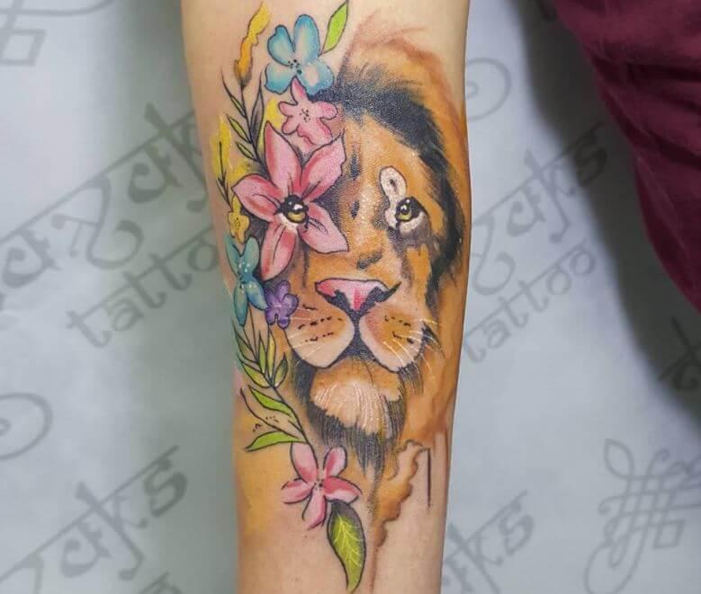 Lion Tattoos On Forearm