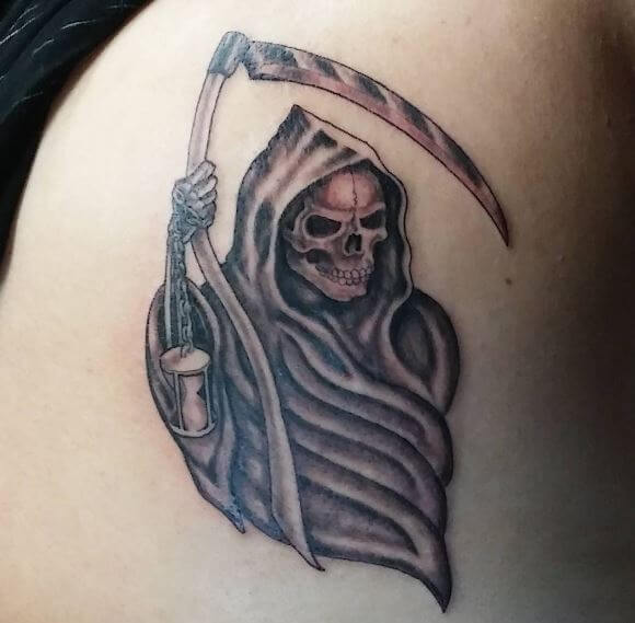 Little Grim Reaper Tattoos Design