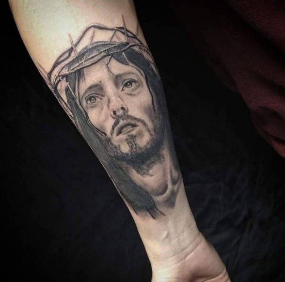 New Stylish Jesus Tattoos Designa Dn Ideas