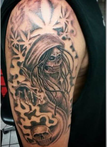 Nice Grim Reaper Tattoos Design