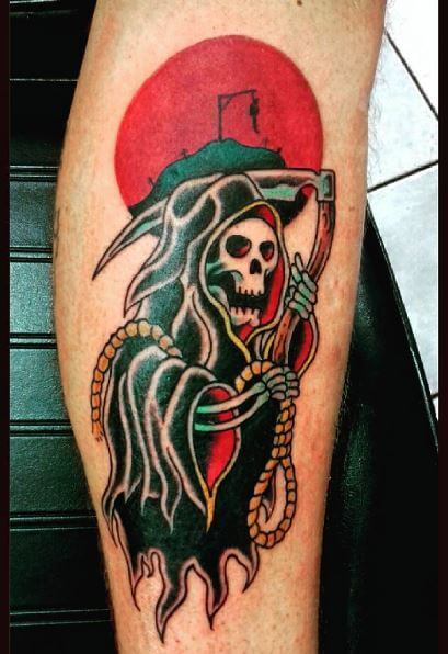 Pretty Grim Reaper Tattoos Design And Ideas