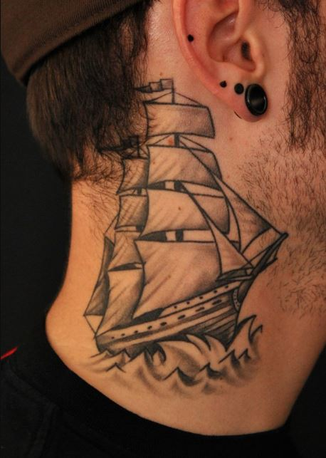 Ship Tattoos On Neck