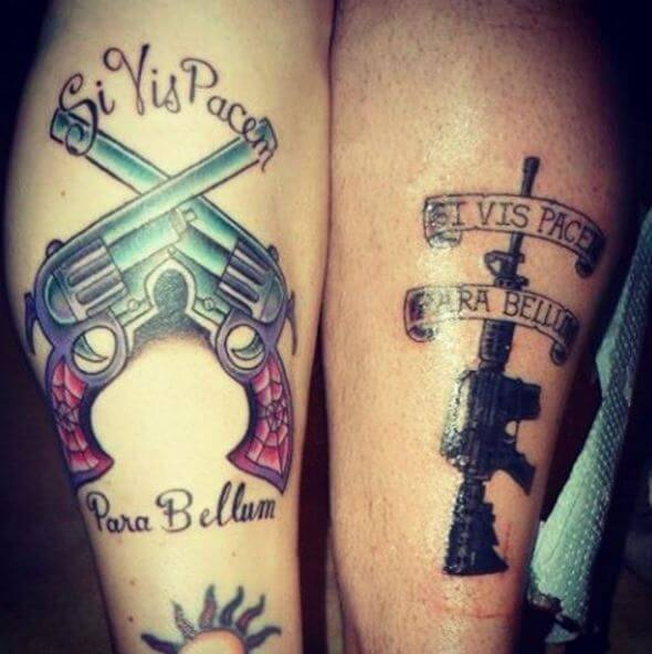 Sibling Gun Tattoos Design And Ideas