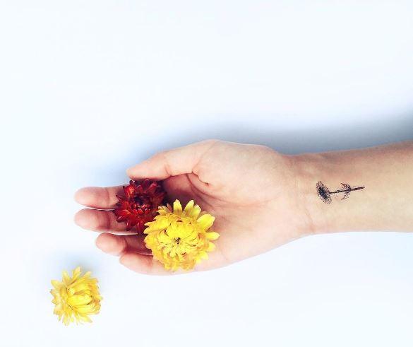 Sun Flower Micro Tattoos Design And Ideas