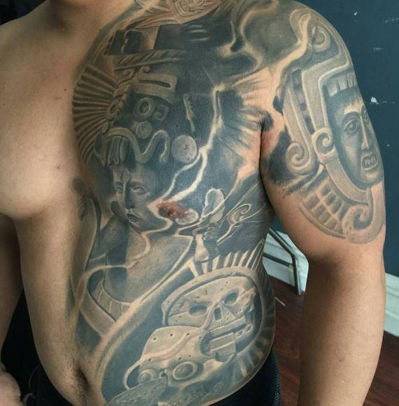 Top Aztec Tattoos Design And Ideas For Men