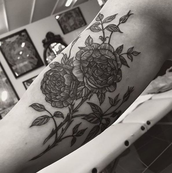 Top Floral Tattoos Stock Photos