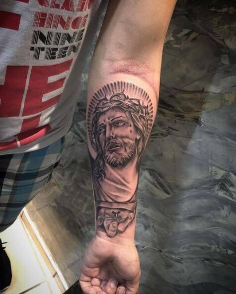 Very Beautiful Jesus Christ Tattoos Design