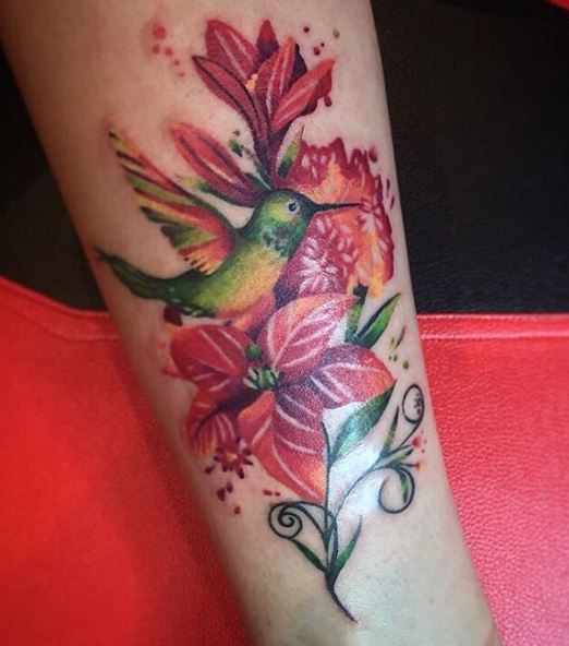 Water Color Floral Tattoos Design And Ideas