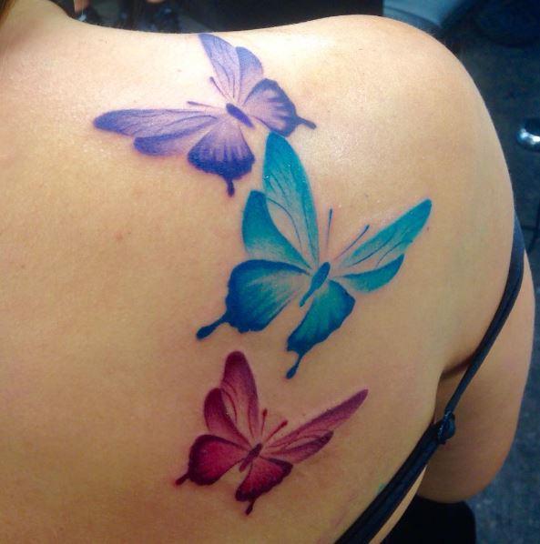 Water Color Shoulder Tattoos Designa Dn Ideas