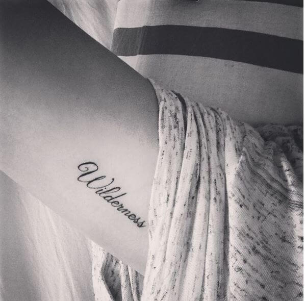 Wonderful One Word Tattoos Design And Ideas