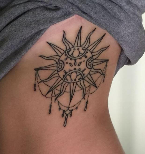 Ancient Sun And Moon Tattoos