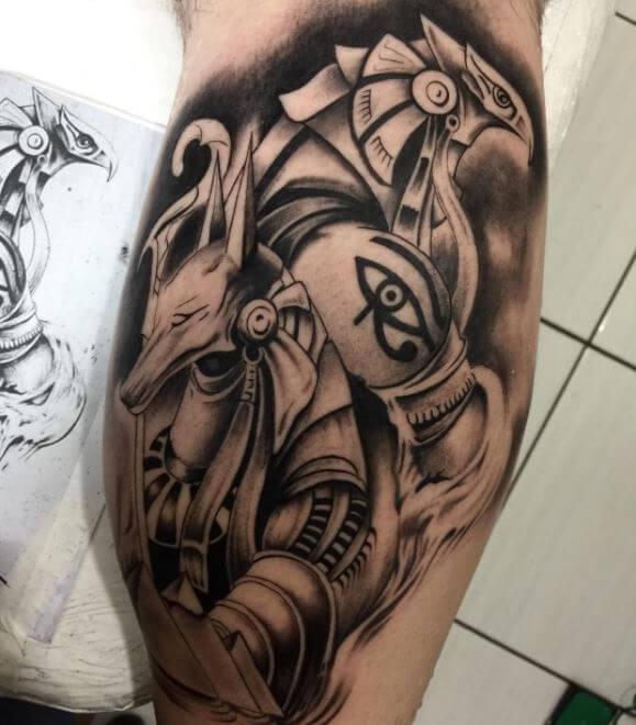 Anubis And Ra Tattoo