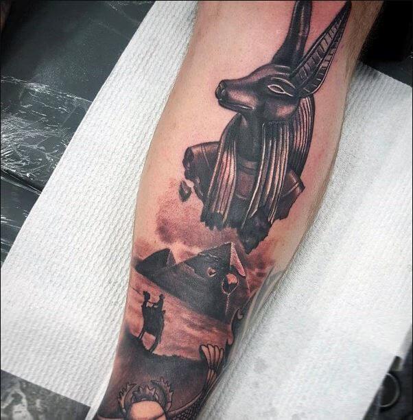 Anubis Egyptian Tattoo
