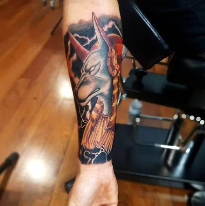 Anubis Forearm Tattoo