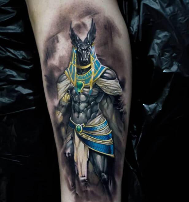 Anubis Warrior Tattoo Designs