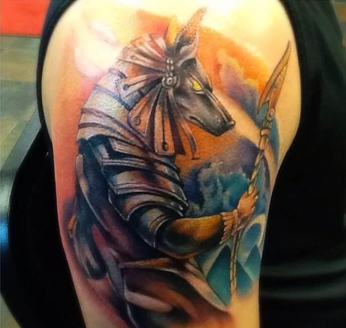 Anubis Warrior Tattoo