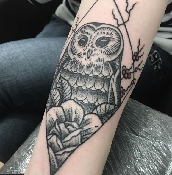 Aztec Owl Tattoos
