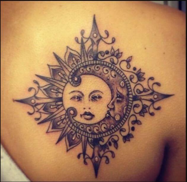 Aztec Sun And Moon Tattoos
