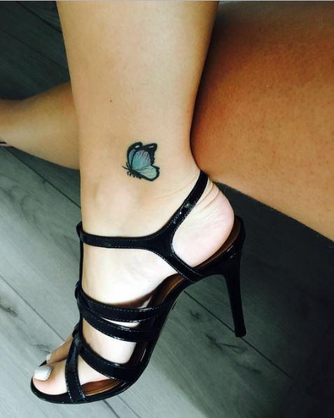 Baby Feet Butterfly Tattoos