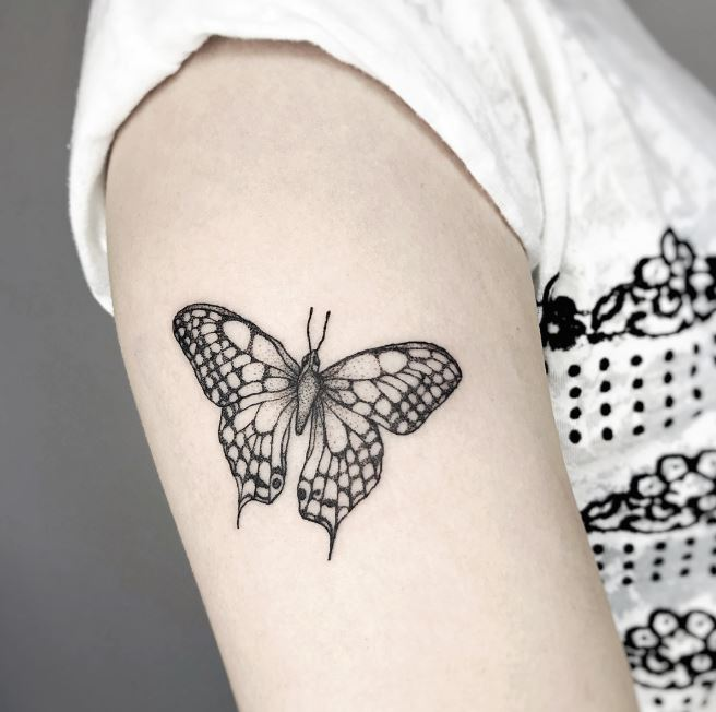 Baby Footprints Butterfly Tattoos